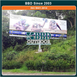 Assurance Quality Outdoor Steel Advertising Single Sided Monopole