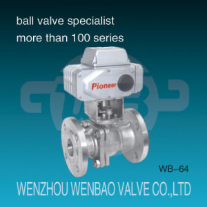 Electric Motorized Two-Way Stainless Steel Flanged Ball Valve pictures & photos