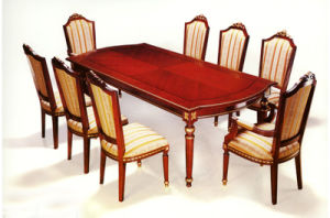 Luxury Dining Sets/European Style Restaurant Furniture/Golded Foil Dining Sets (GLNDC-01) pictures & photos