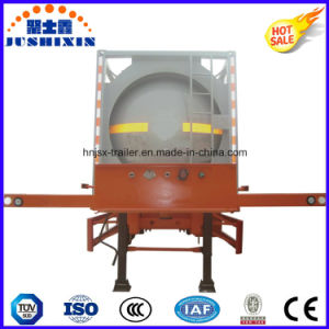 ISO Csc Semi Trailer Carbon Steel Fuel Oil Tank Container pictures & photos