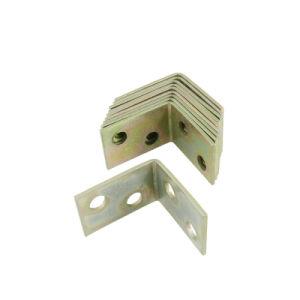 Stamping Parts Metal Slotted 60 Degree Angle Bracket pictures & photos