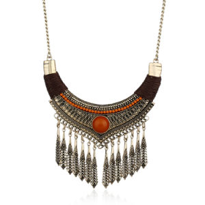 Statement European and American Alloy Bohemia Necklace Tree Design Tassel Pendant Fashion Jewelry pictures & photos