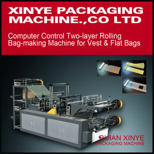Computer Control Two Layer Rolling Garbage Bag Making Machine pictures & photos