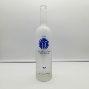Super Flint Clear Glass Cork Top 750ml Frosted Vodka Bottles for Liquor, Wine pictures & photos