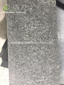 Flamed Brushed G684 Black Basalt Floor Tile pictures & photos