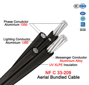 NF C 33-209 Aerial Bundled Cable Phase Conductor Lighting Conductor AAAC Messenger pictures & photos