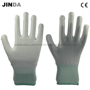 PU Coated Labor Protective Guantes Work Gloves (PU002) pictures & photos
