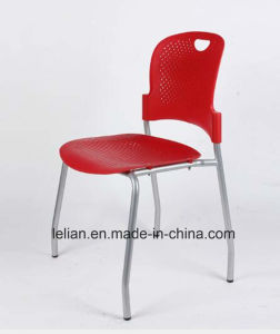 Plastic Stackable Restaurant Coffee Dining Chair with Metal Leg pictures & photos