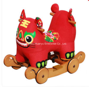 Multifunction Wooden Rocking Animal-Double Tiger Head Rocker pictures & photos