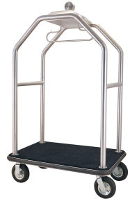 New Design Sand Silver Steel Luggage Cart (DF64) pictures & photos