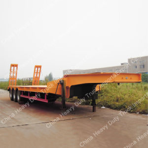 50ton Low Bed Trailer/Semi Truck Trailers for Sale pictures & photos