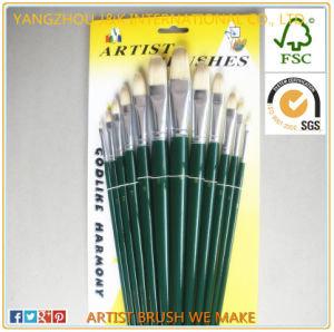 High Quality Bristle Hair Artist Oil Painting Brush
