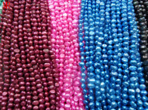 8-9mm AA Multi-Color Nugget Freshwater Pearl Strands pictures & photos