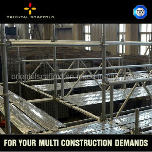 Ringlock Scaffolding Ledger Hot DIP Galvanized Scaffolding pictures & photos
