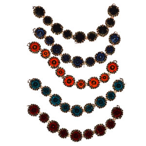 Multi-Color Crystal Beaded Necklace Jewelry with Brooch 0043 pictures & photos