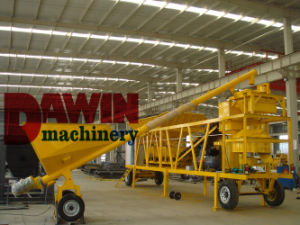 Mini Mobile Batching Plant with Belt Conveyor 20m3/Hr Capacity pictures & photos