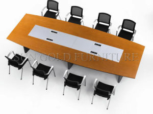 Popular Modern Steel Leg Conference Table (SZ-MT005) pictures & photos