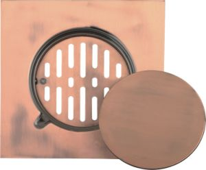 Stainless Steel Floor Drain Copper Color 200x200 (YD-S012)