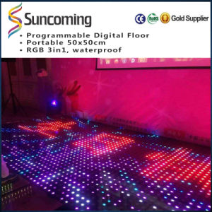 Tempered Glass LED Portable Wedding Portable LED Video Dance Floor pictures & photos