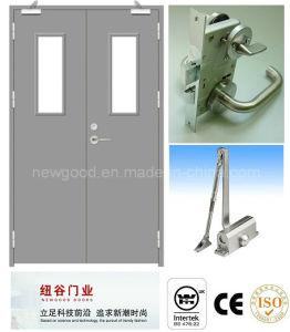 Bs476/UL Certificate Approved Double Fire Door Manufacturer, Fire Rated Door, Fire Proofing Door, Steel Fire Door (30/60/90/120 Minutes) pictures & photos