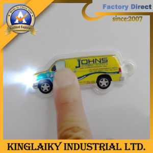 Customized Car PVC Keyring Lights with Logo for Gift (KL-4) pictures & photos