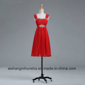 Sweetheart Beach Maid of Honor Dresses Chiffon Short Bridesmaid Dresses pictures & photos