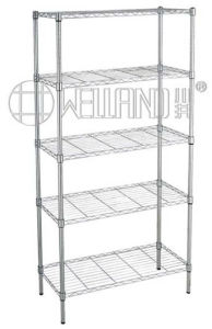 New Design 5 Tiers Light Duty Chrome Wire Display Rack (LD9035180A5RC) pictures & photos