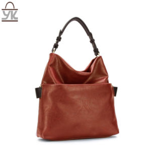 Contrast Color Fashion Ladies Designer Handbags From PU Leather pictures & photos