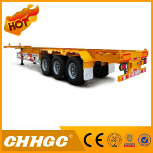 Straight Beam Container Skeleton Semi-Trailer pictures & photos