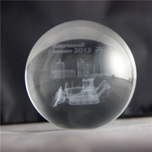 Transparent 3D Laser Crystal Ball for Souvenirs or Gifts