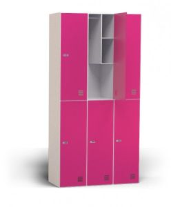 Colorful 6 Doors Steel Cabinet Clothes Storage Locker pictures & photos
