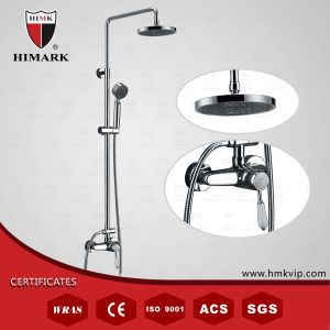 Single Handle Contemporary Bathroom Shower Tap with Circle Rainfall Shower