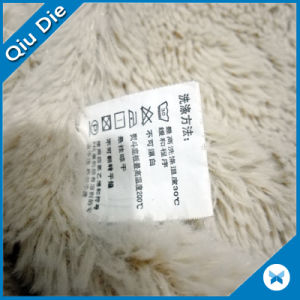 Print Satin Labels For Clothes Care Label Symbols Fabric pictures & photos