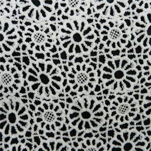 Ornament Circular Crochet Cotton Lace Fabric (L5133) pictures & photos