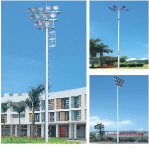 40m Hight Mast Lighting Pole with Flood Lights pictures & photos