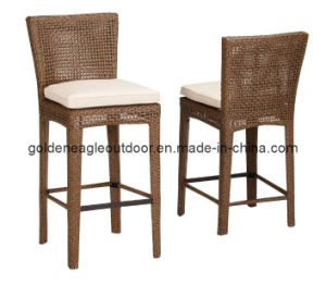 Outdoor Wicker Bar Stool with Cushion (L63)