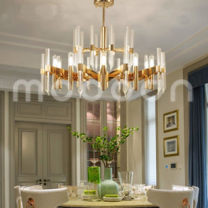 Modern Large Luxury Gold Color G9 LED K9 Crystal Chandelier pictures & photos