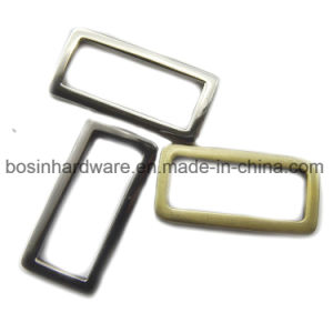 Die Casting Metal Rectangle Ring Buckle Webbing Accessories pictures & photos