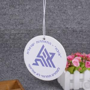 Customization Logo Slogan Air Fresheners/Orange Car Perfume Hang Tag pictures & photos