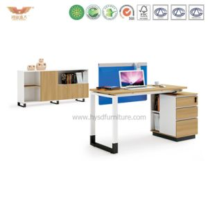 Office Manager Melamine Office Desk with L Shape Return (H90-0204) pictures & photos