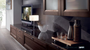 Elegant European Style Wood TV Cabinet pictures & photos