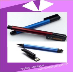 New USB Flash Drive with Ball Pen in Blue Np017-036 pictures & photos