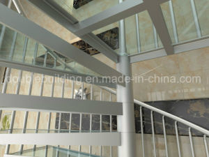 Aluminum Spiral Stairs Glass Tread Modular Glass Staircase pictures & photos