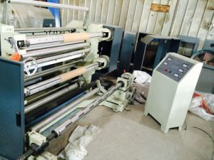 Vertical Type Plastic PE PP OPP Film Slitting and Rewinder Machine (DC-QFJ100-1300) pictures & photos