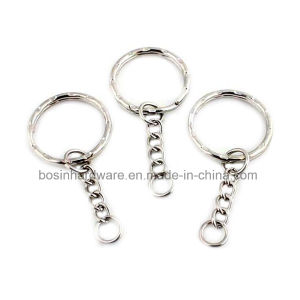 25mm Nickel Plated Key Ring Loop with Chain pictures & photos