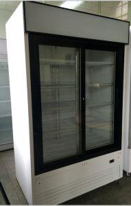 2017 New Design 1000L Sliding Door Commercial Beverage Cooler for Supermarket and Shop