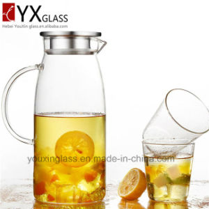 1.8L Hot-Sale Borosilicate Glassware/Glass Cold Brew Tea Maker/Clear Glass Water Jug with Side Handle and Lid for Cold Drinks/Glass Water Pitcher pictures & photos