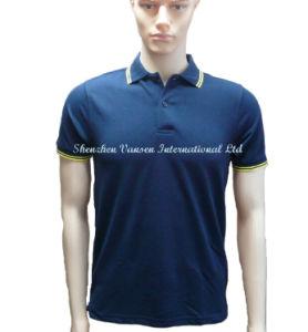 Simple Summer Black Men′s Polo Shirt pictures & photos