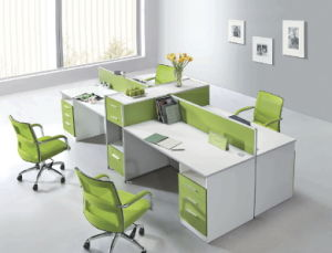 Modern Office Furniture Four Seater Office Table/ Office Partition pictures & photos