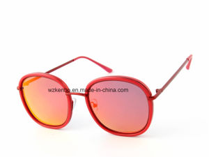 Metal Combine Plastic Double Rim Frame Km16156 Latest Design Sunglasses pictures & photos